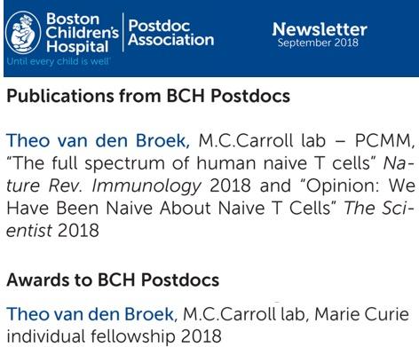 BCH newsletter